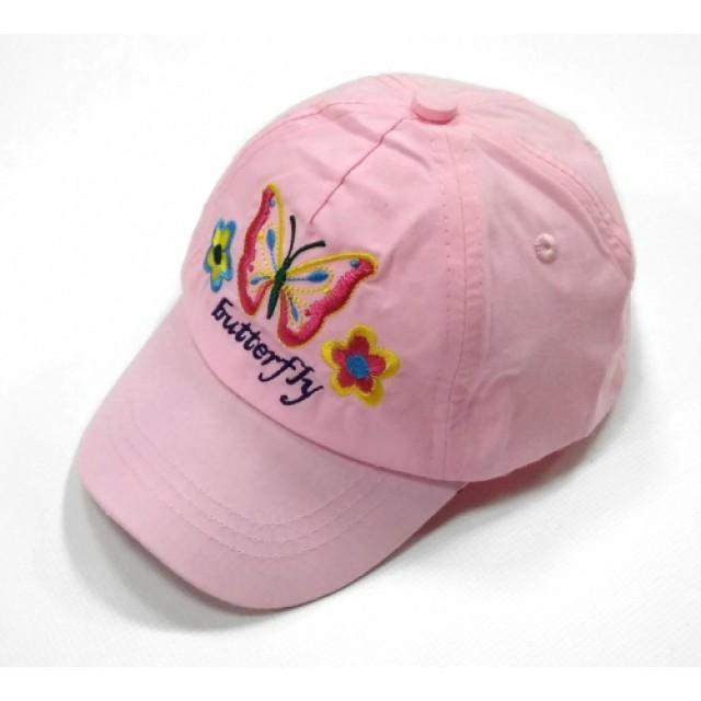 """Бейсболка""""метелики+квітки"""""""